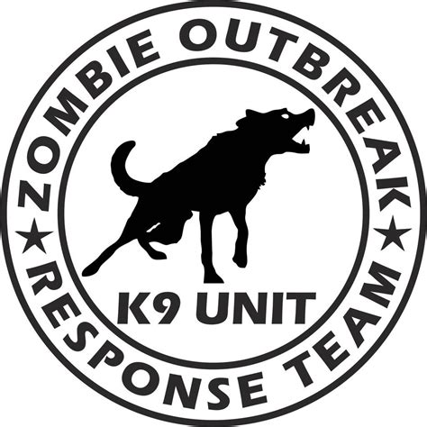 Car Sticker Zombie by Zombie Outbreak Response Team K9 Unit Vinyl Decal Sticker