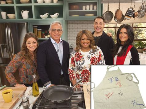 The Kitchen Cast win an apron signed by the cast of the kitchen fn dish