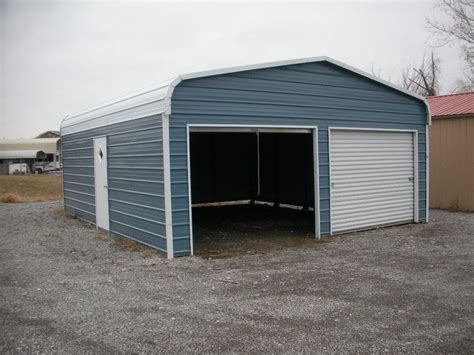 Two Car Garage With Carport by Metal Garages Arkansas Metal Garage Prices Steel
