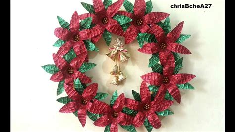 diy 52 xmas wreath from recycled materials best out of
