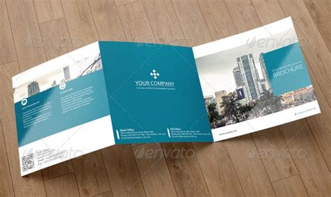 Outstanding Corporate Identity Print And Web Templates Entheos Square Trifold Brochure Template