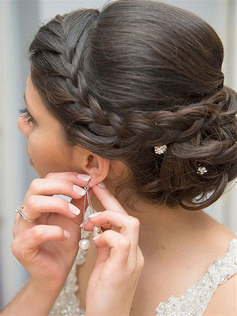 Wedding Hairstyles With Braids For Bridesmaids by Best 25 Updo Hairstyle Ideas On Prom Hair