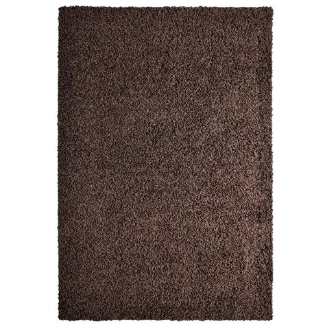 comfort rug lanart comfort shag chocolate 8 ft x 10 ft area rug cshag810ch the home depot