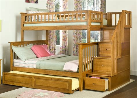 Wooden Bunk Beds With Trundle Wooden Bunk Bed With Trundle