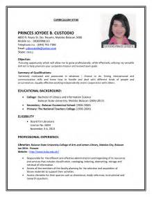 It Jobs Resume Format by R 233 Sum 233 Hiring Librarians