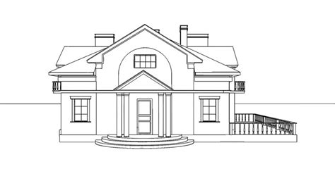 3d house drawing hand drawing architecture sketch of the house stock