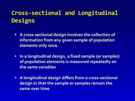 cross sectional and longitudinal studies ppt introduction to marketing research powerpoint