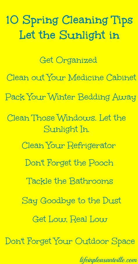 spring cleaning ideas 10 spring cleaning tips let the sunlight in life in