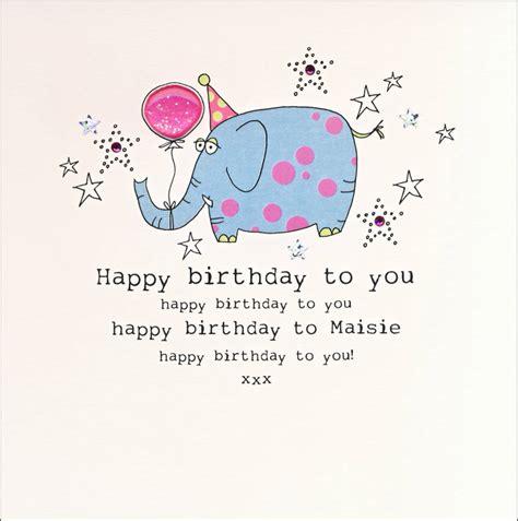 Elephant Birthday Cards Original Personalised Elephant Birthday Card Jpg