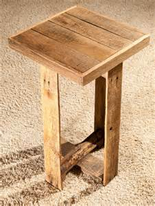 Pallet Side Table Diy Pallet End Table Or Side Table Wooden Pallet Furniture