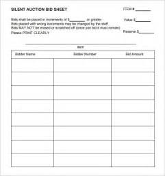 silent auction catalog template sle silent auction bid sheet 6 exle format