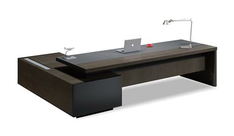 office tables contemporary office table in leather wood boss s cabin