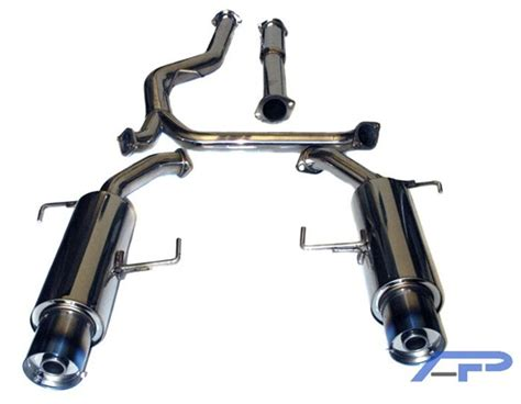 subaru dual exhaust agency power dual muffler catback exhaust system with