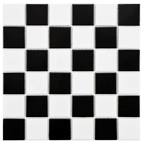 Sheen Kitchen Design Merola Tile Boreal Quad Checker Black And White 11 7 8 In