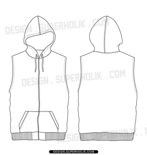 sleeveless shirt template sleeveless hoodie shirt template set hellovector