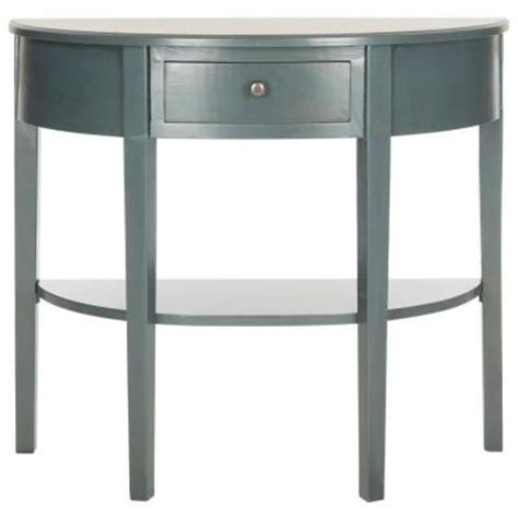 Teal Console Table Safavieh Abram Teal Console Table Amh6636b The Home Depot