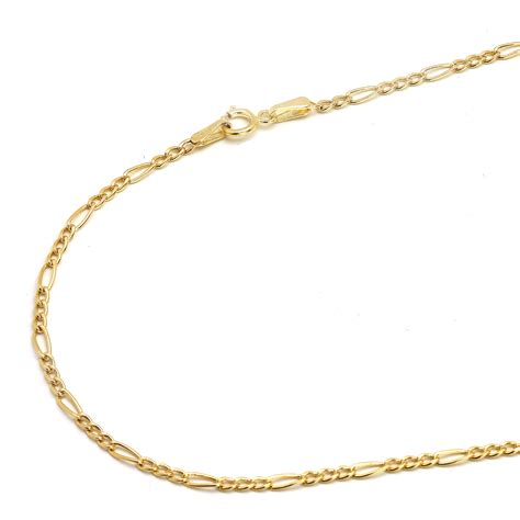 jewelry chain 14k yellow gold 2mm figaro chain necklace