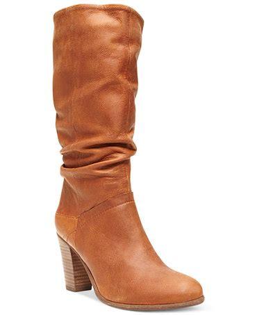 macys steve madden boots steve madden s loretta slouch boots shoes macy s
