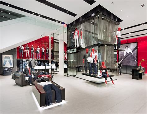 design stores in nyc guess flagship store new york 187 retail design blog