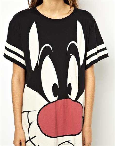 Looney Tunes Blouse Black T3009 3 lazy oaf x looney tunes sylvester slob tshirt in black lyst