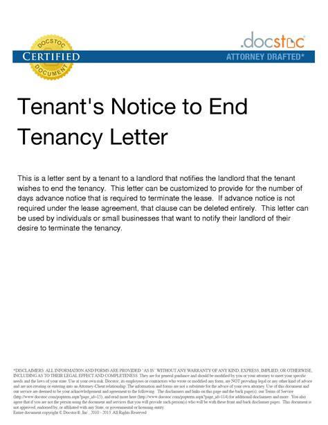 Landlord Lease Termination Letter Virginia Termination Notification Letter Business Letters Termination