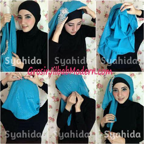 tutorial cara pake hijab turban turban pesta sufya exclusive by syahida cara pake model 2