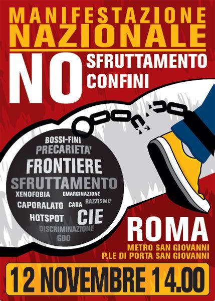 permesso di soggiorno roma 12 novembre manifestazione nazionale contro il ricatto