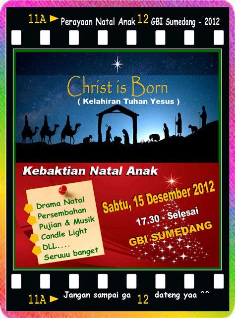 sekolah minggu contoh poster acara natal anak  gbi