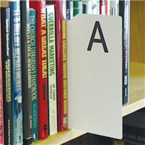 Library Shelf Dividers by Brodart Sign Shop Alphabetical Shelf Marker Set