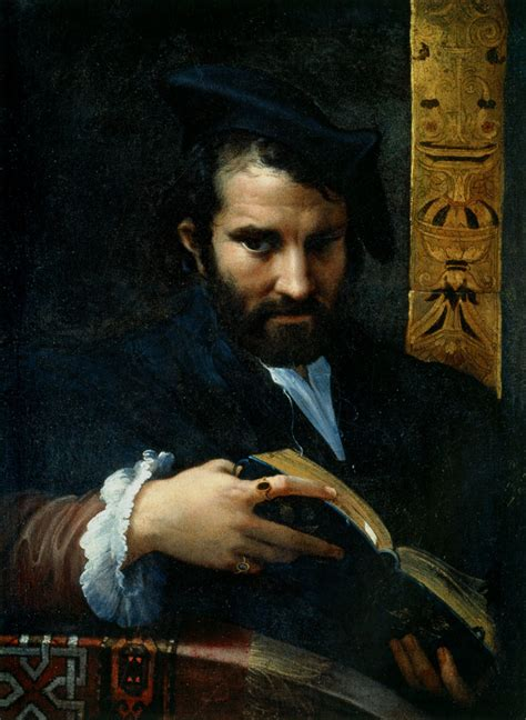 epph parmigianino s man with a book 1523 4 with works by titian and michelangelo too