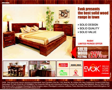 evok s presenting solid wood festival flat 25 on