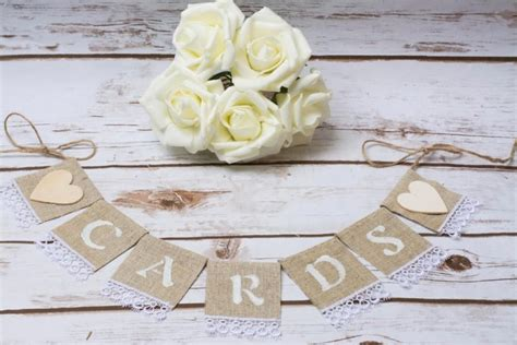 Wedding Card Sign by Cards Banner Wedding Cards Sign Banner Burlap Cards