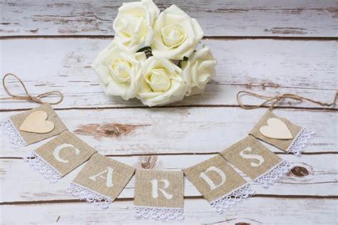 Wedding Banner Garland by Cards Banner Wedding Cards Sign Banner Burlap Cards
