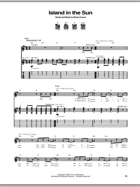 ukulele tutorial island in the sun island in the sun sheet music direct