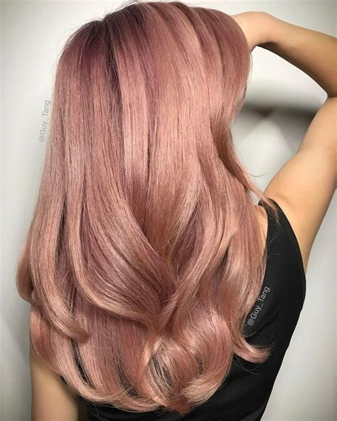 rose gold hair dye dark hair so gorgeous subtle rose gold hair by guy tang on