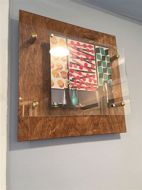 how to attach poster to wall wood floating display frames in the kitchen diy frame