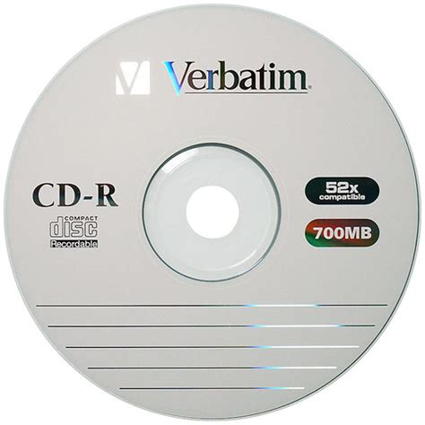 Cd R Verbatim Printable Tb 25 Verbatim Protection Cd R 700 Mb 80 Min 52x 100