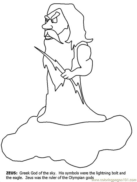 printable coloring pages of zeus zeus coloring pages coloring home