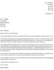 Library Assistant Cover Letter Example Icover Org Uk