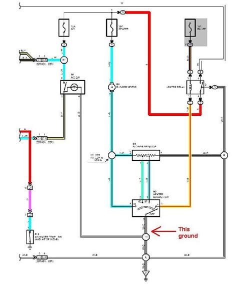 toyota heater blower motor wiring diagram schematic