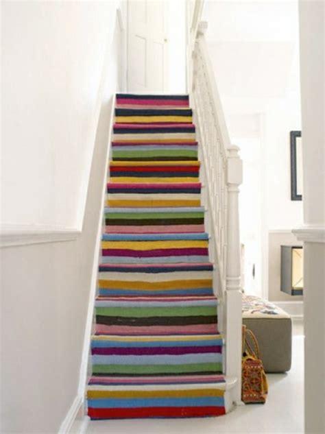 treppenstufen deko teppich treppenstufen hause deko ideen