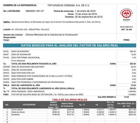 tabulador de sueldos sector privado 2016 tabulador de construccion 2016 tabulador construccion