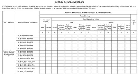 eeo 1 report template employers must report employees pay and hours worked in
