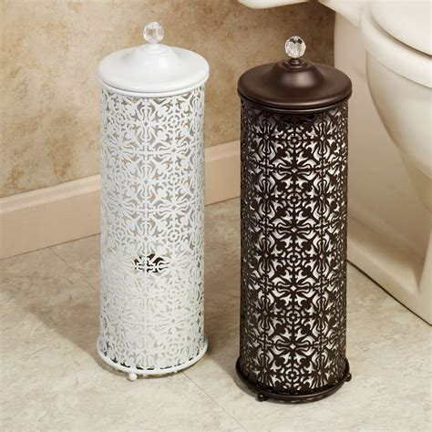 Bathroom Caddy Ideas by Lace Design Metal Toilet Tissue Holder