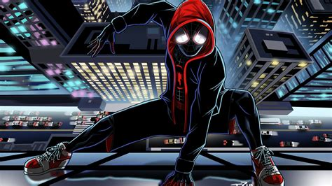wallpaper spider man miles morales marvel comics hd