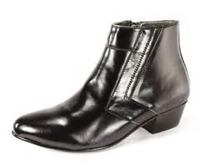 mens zipper dress boots d italo 5631 mens black leather cuban heel dress ankle