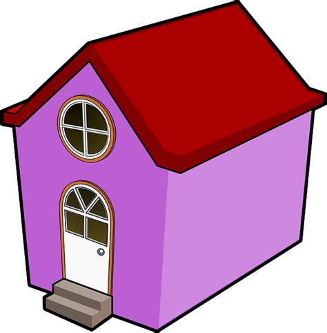 tiny house cartoon red house small cartoon purple big little houses