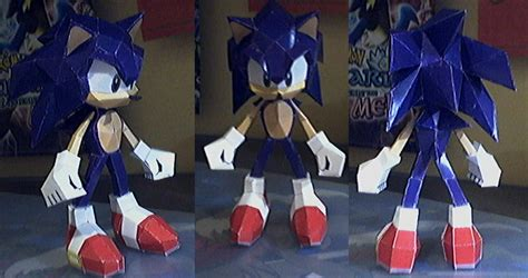 Sonic Origami - how to make sonic the hedgehog crafts