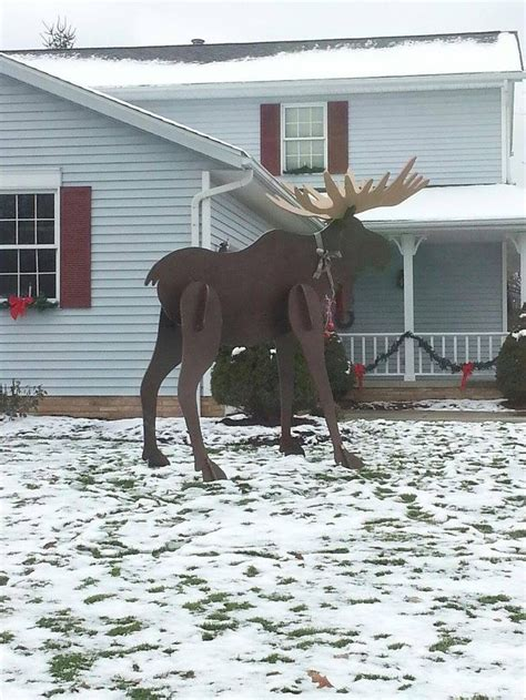 moose lawn ornament moose yard decor product moose deer