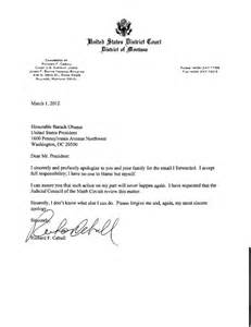 judge s apology over obama email honestly i don